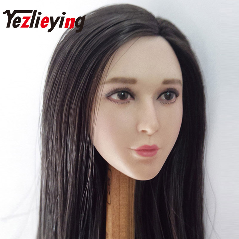 Beauty Fan Bingbing doll head shape + cold hat suit 1/6 head sculpture model 12 inch act ...
