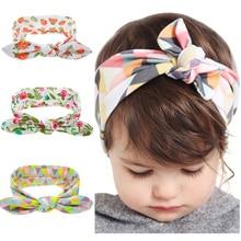 1PC Kids Flower Headband Floral Hair Bands Turban Rabbit Bowknot Headband Girl Headwear Childen Hair Accessories