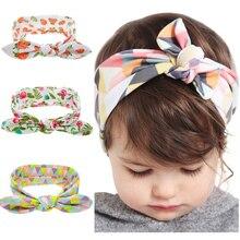 Kids Flower Floral Hairband Turban Rabbit Bowknot font b Headband b font Headwear font b Hair