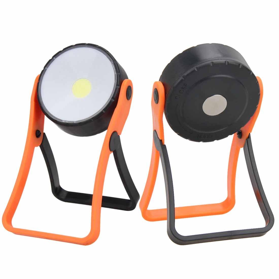 Cob Led Lampe D'inspection De Lumière De Travail 360 Torche à Main Réglable Magnétique Camping Tente Lanterne Avec Crochet Aimant Super Lumineux Les Clients D'Abord