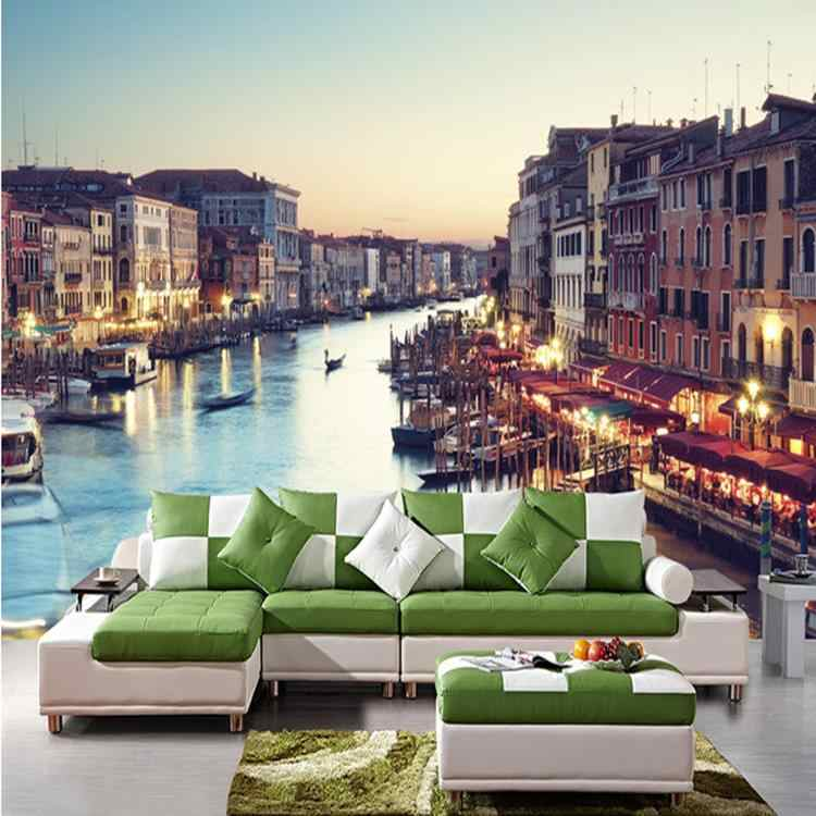 Custom 3d photo wall paper City Scenery wallpaper mural modern minimalist Venice Shuicheng wallpaper