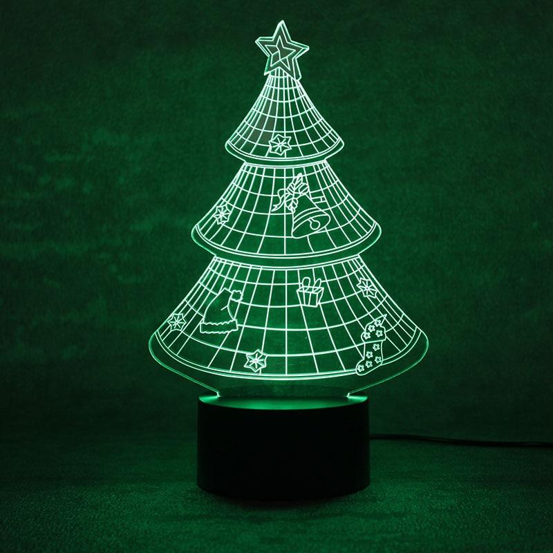3D LED Night Light USB Novelty Christmas Tree Visual Table Lamp Baby Sleep Lampara Light Fixture Bedroom Bedside Home Decor Gift