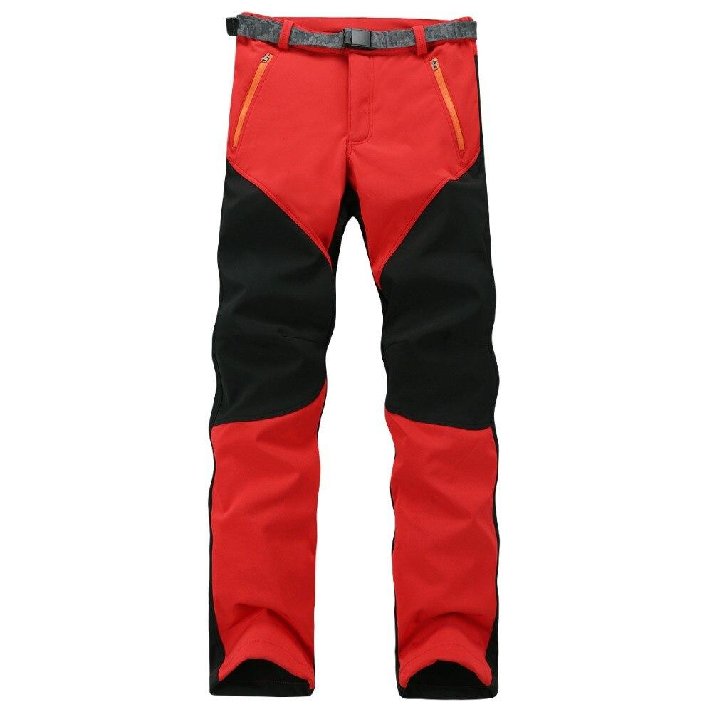 Camping Hiking Winter Outdoor Sport Pants Warm Waterproof Fleece Windproof Fishing Pants Men Women Mountain Climbing Pantalones