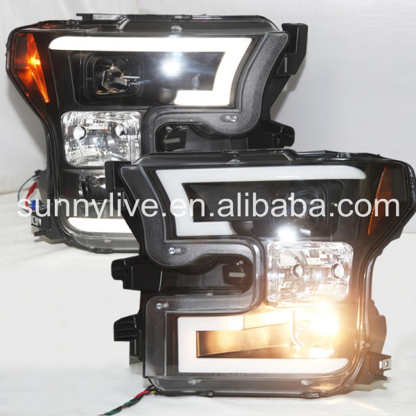 For FORD for Raptor F150 2015-2016 Head Light Black Color SN