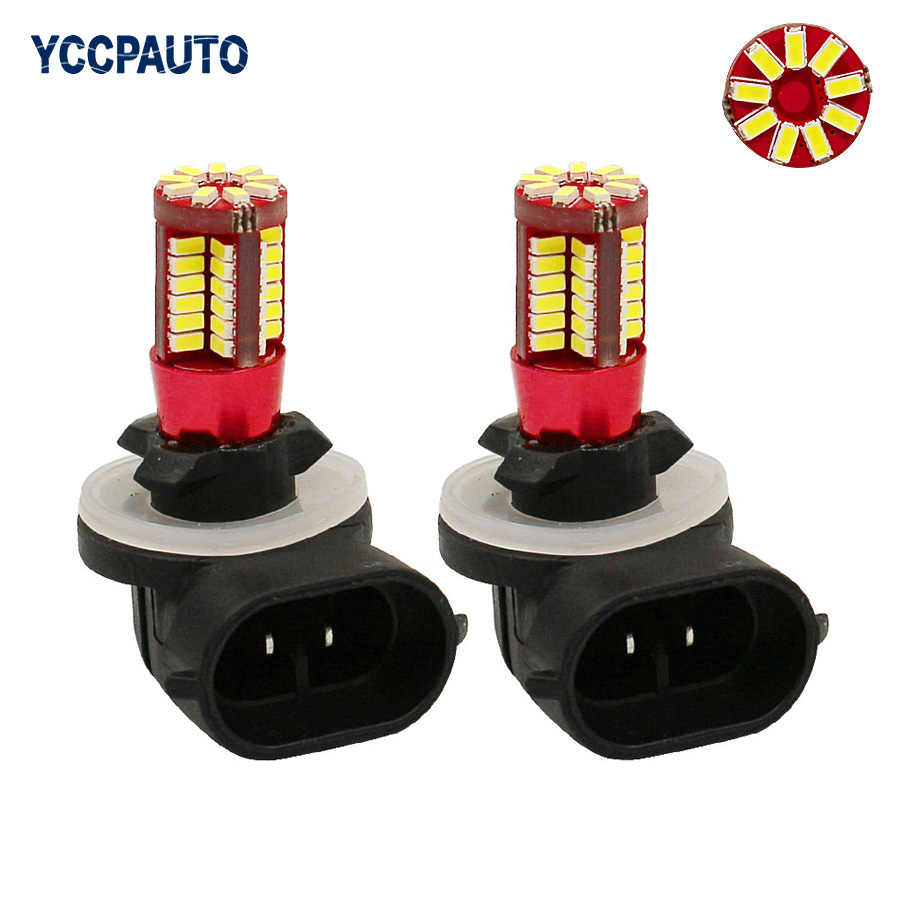 Gfoloza H27 881 880 Car Led Fog Lights White DRL AUTO Daytime Running Light DC 12V 57 smd 3014 H27W/2 862 886 894 896 898 2PCS