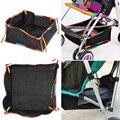 2 Colors Baby Stroller Storage Bag Multifunctional Universal Car Hanging Polyester Net Storage Bag Baby Stroller Accessorie