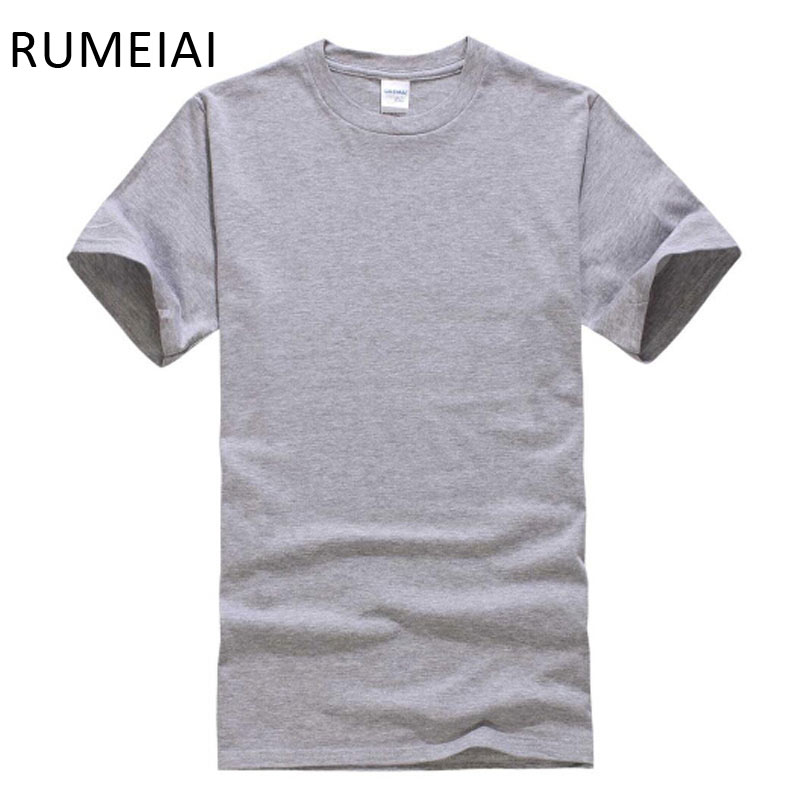 eb3de256123d RUMEIAI 2017 New Solid color T Shirt Mens Black And White 100% cotton T- shirts Summer Skateboard Tee Boy Skate Tshirt Tops