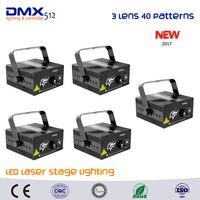 DHL Free Shipping 5pcs 40 Patterns Xmas Bar RG Laser BLUE LED Stage Lighting DJ Disco
