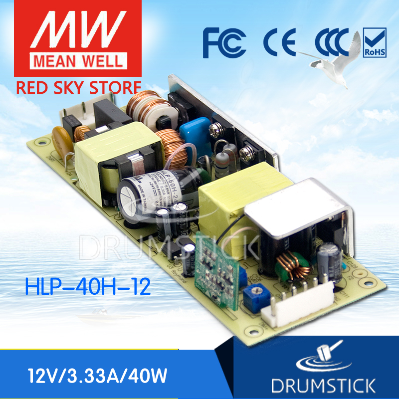 Advantages MEAN WELL HLP-40H-12 12V 3.33A meanwell HLP-40H 12V 40W Single Output LED Driver Power Supply tlm3728lf power panel rsag7 820 848 roh hlp 23 a01 a