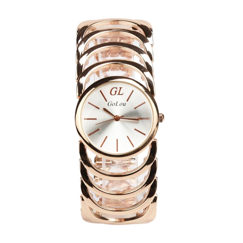 Luxury Rose Gold Stainless Steel Watch Women Ladies Dress Quartz Wrist Watches Relogio Feminino G-005 luxury gold watch 2017 new fashion lovers men women quartz watches rose gold stainless steel relogio feminino dress clock lz2169