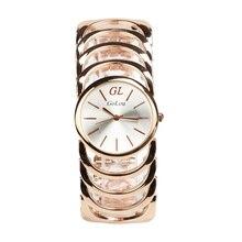 De lujo de Oro Rosa de Acero Inoxidable Reloj de Las Mujeres Vestido de Las Señoras de Cuarzo Relojes de Pulsera Relogio Feminino G-005