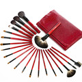 Luxury 21pcs Makeup Brush Sets Pro Cosmetics Brushes Eyebrow Powder Lipsticks Shadows Make Up Tool Kit with Pouch Bag