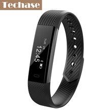 Techase умный Браслет-трекер активности Браслет фитнес часы Pulseira inteligente Браслет Шагомер USB зарядки PK Mi band