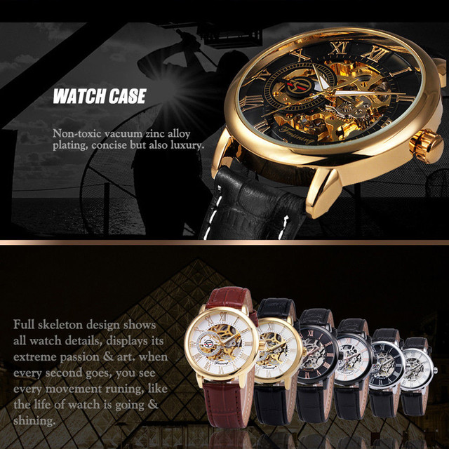Luxury Mechanical 3D Hollow Skeleton Dial Sport Watches 6