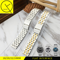 Stainless Steel Watchband For Man Watch Band For Breitling Strap Watchstrap Bracelet Wrist Watch 18 20