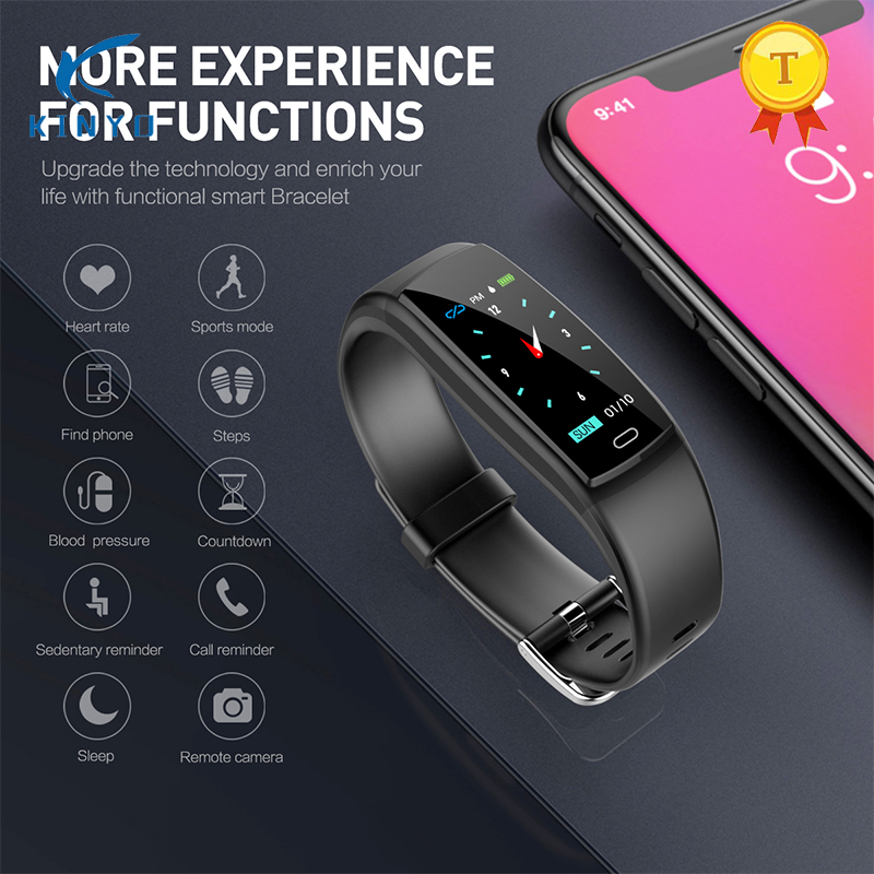 все цены на Best selling Smart Bracelet Waterproof Heart Rate Monitor pulsometer Blood Pressure Fitness Tracker Smart Wristband PK mi band 3 онлайн