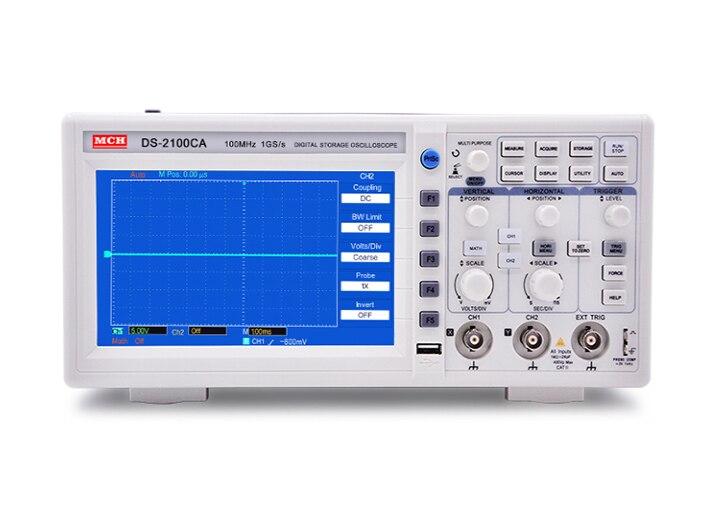 MCH Oscilloscope numérique Oscilloscope à mémoire numérique Double Canal 100 M D'échantillonnage 1 GHZ Oscilloscope