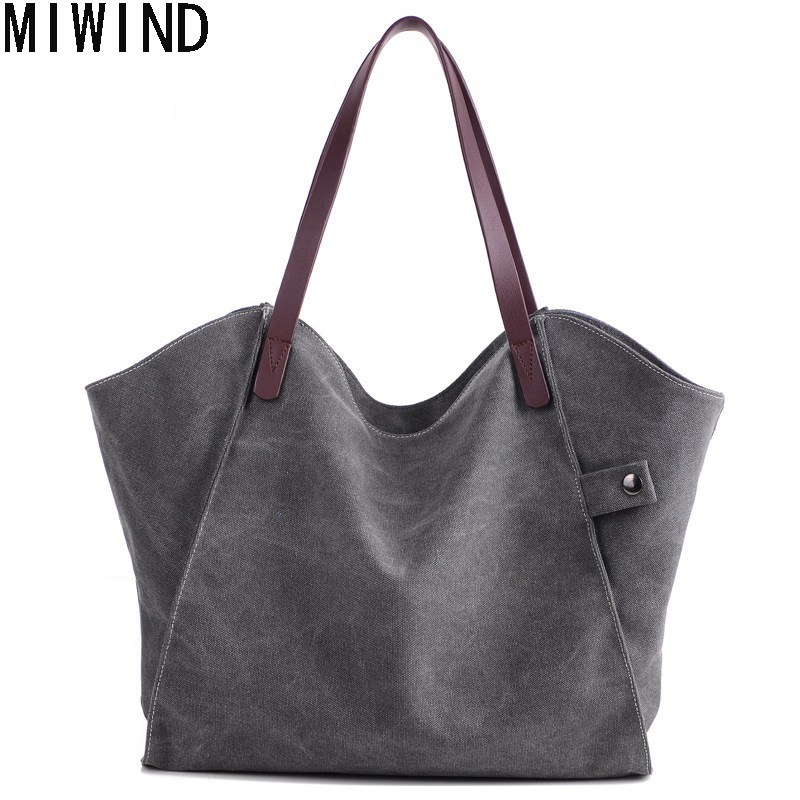 Big Canvas Bag Large Hobos Bag Totes Bolsa Feminina TB1434