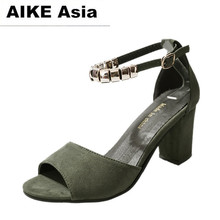 2018 Summer Women Shoes  Pumps  Dress Shoes High Heels Boat Shoes Wedding Shoes tenis feminino  Side with Rough with Peep Toe