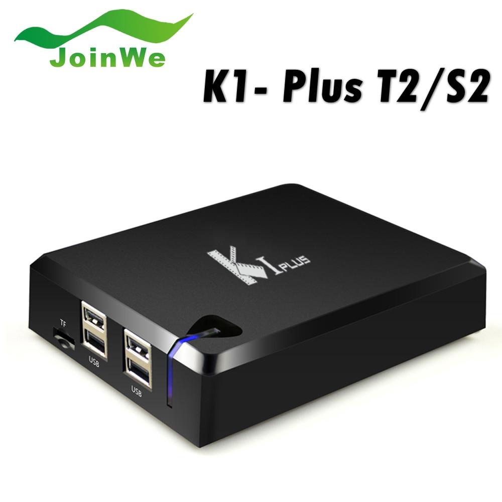 ФОТО K1 PLUS S2 T2 Amlogic S905 Quad core 64-bit Support DVB-T2 DVB-S2 1G/8G 1080p 4K Android 5.1 TV Box Support Ccamd Newcamd