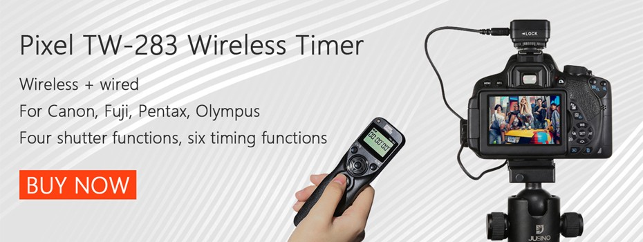 Wireless Timer Remote Control Pixel TW 283/N3 LCD Shutter