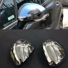 Car Auto Cover Styling For FIAT 500X 2014 2015 2016 2017 2018 2019 ABS Chrome Side Wing Fender Rearview Door Mirror Cap Trim abs chrome side wing fender rearview door mirror trim cover for mercedes benz v class v250 v260 v220 2014 2015 2016 2017