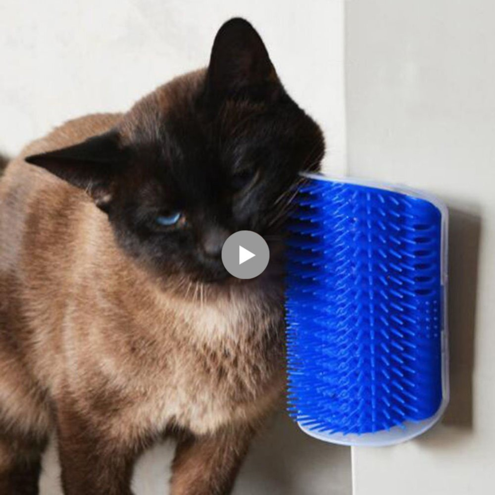 Pet Cat Self Groomer Wall Corner Massage Comb Blue/gray Brush Comfortable Dog Cat Corner Groomer Massager Tool Grooming Brush