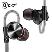 Наушники qkz DM10 сплав цинка HiFi наушники в ухо наушники Fone де ouvido Металл DJ MP3 гарнитура Auriculares audifonos