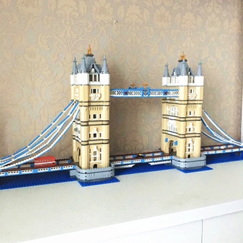 Lepin 17004 Tower Bridge building bricks blocks Toys for children boys Game Model Gift Compatible with Bela Decool 10214 lepin 22001 imperial flagship building bricks blocks toys for children boys game model car gift compatible with bela decool10210