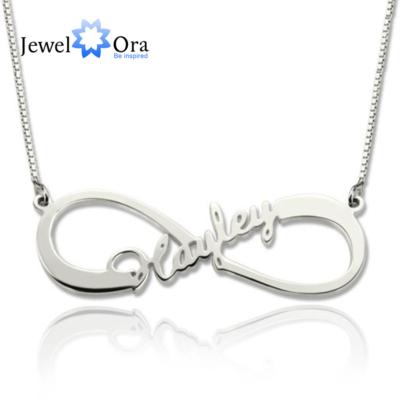 DIY Personalized Name Necklace 925 Sterling Silver 8-Shaped Letter Necklaces & Pendants Best Birthday Gift(JewelOra NE101366)DIY Personalized Name Necklace 925 Sterling Silver 8-Shaped Letter Necklaces & Pendants Best Birthday Gift(JewelOra NE101366)