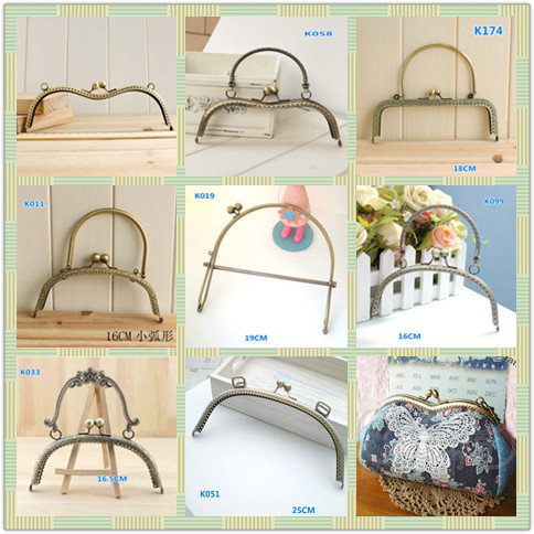 9 Assorted Designs Big Metal Purse Frame series Vintage style DIY ...