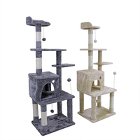 EU Domestic Delivey Pet Toy Cat Furniture Scratched Wooden Tree Cat Jump Toys Cat House Tree Cheap Cat Tower rascador gato