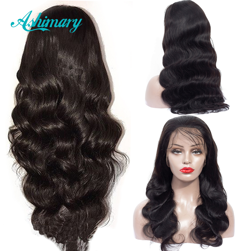 Lace Front Human Hair Wigs Pre Plucked Hairline Brazilian Body Wave 13x6 Lace Frontal Wig With Baby Hair For Women Ashimary