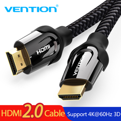 Vention HDMI كابل HDMI كابل وصلة بينية مُتعددة الوسائط وعالية الوضوح 4 K HDMI 2.0 3D 60FPS كابل ل الفاصل التبديل التلفزيون كمبيوتر محمول LCD PS3 العارض الكمبيوت...