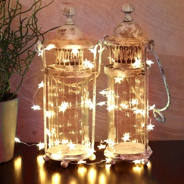 Lights Star Shape Bedroom Decorative Light Girl Room Decoration Outdoor Mini Diy Bar