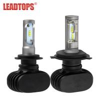 LEADTOPS H1 H4 H7 H11 LED 9005 HB3 9006 HB4 H13 9003 Car Headlight Bulbs CSP
