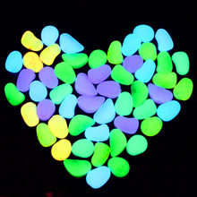 Novelty Toys 50PCS Glow in Dark Pebbles Kids Gifts Glow Stones Rocks Walkway Garden Aquarium Fish Tank Valentine Luminous Stones(China)