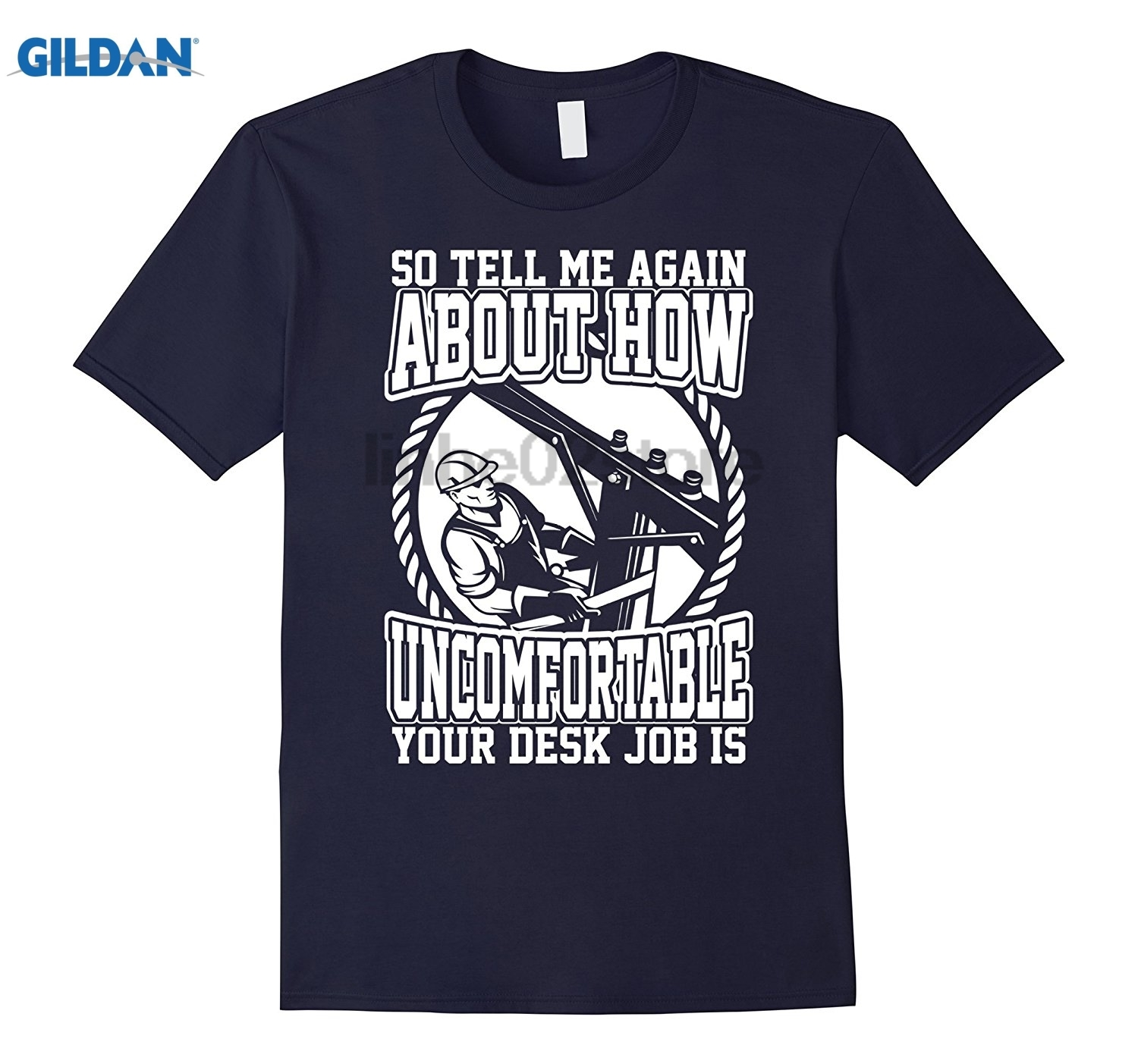 GILDAN Lineman Tell Me Again How Uncomfortable Desk Job Tshirt Dress female T-shirt ...