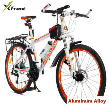 New brand mountain bicycle aluminum alloy frame dual disc brake lockable fork 26/27.5 inch wheel 21/24/27/30 speed bicycle