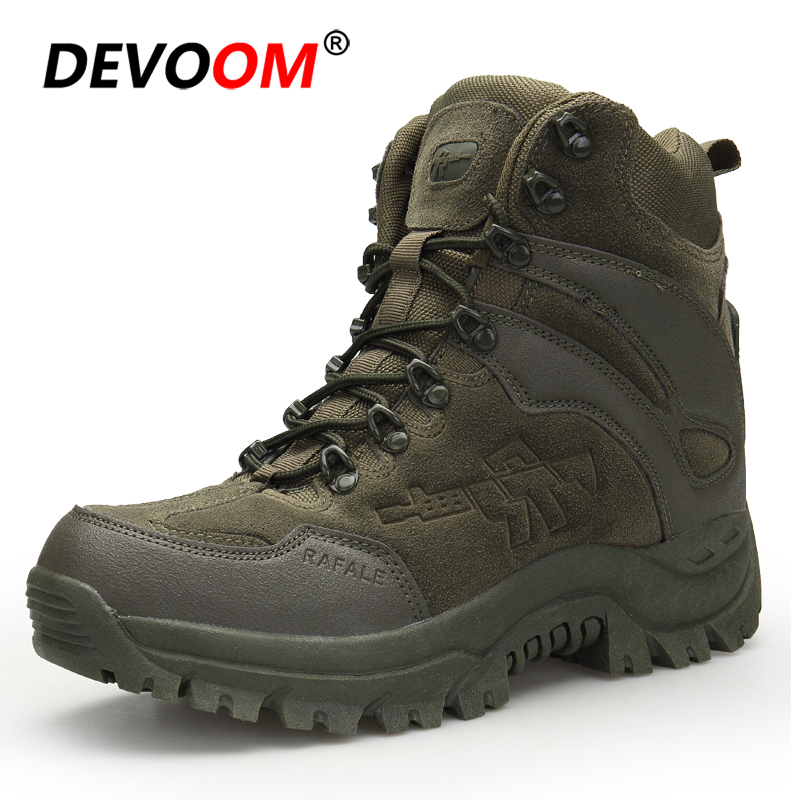 Winter Men Combat Boots Mountain Climbing Shoes Male Soldier Army Boots Trekking Hiking Shoes Men Trend Military Boots Desert