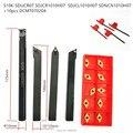 4 STÜCKE nc drehen werkzeug + 10 stücke nc klinge/S10K SDUCR07 + SDJCR1010H07 + SDNCN1010H7 + SDJCL1010H07 + 10 STÜCKE DCMT070204/-in Drehwerkzeug aus Werkzeug bei