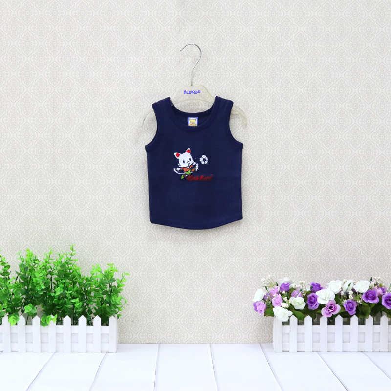 Детские летние топы, жилеты из чистого хлопка для мальчиков и девочек безрукавная Одежда для новорожденных, детская одежда с круглым вырезом, дизайнерская одежда, новинка 2019 года