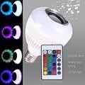 Lâmpada LED Áudio Falante de Música sem fio Bluetooth Reprodução de Música Lâmpada Luz de Energia 24 Teclas de Controle Remoto IR