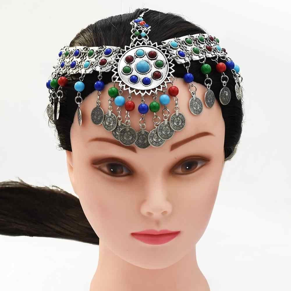 Indian Coin Bead Tassel Belly Dance Head Chain Headband