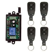 Wireless RF Remote Control Light Switch 10A Relay Output Radio DC 9V 12V 24V 1 CH