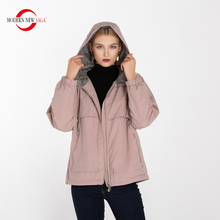 MODERN NEW SAGA Female Winter Warm Parkas Women Short Cotton Coat Hooded Jackets Ladies Long Sleeve Outwear Clothing