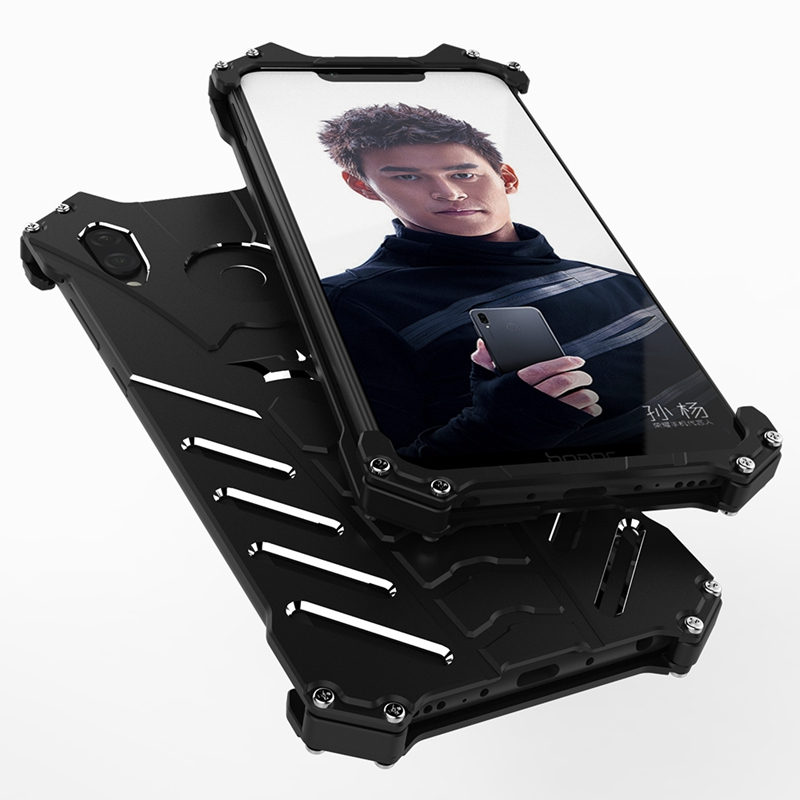Image 2 - Huawei Honor Play Case Aluminum Metal Shockproof Phone Case on for Fundas Huawei Honor Play Armor Protection Case Cover Men-in Fitted Cases from Cellphones & Telecommunications