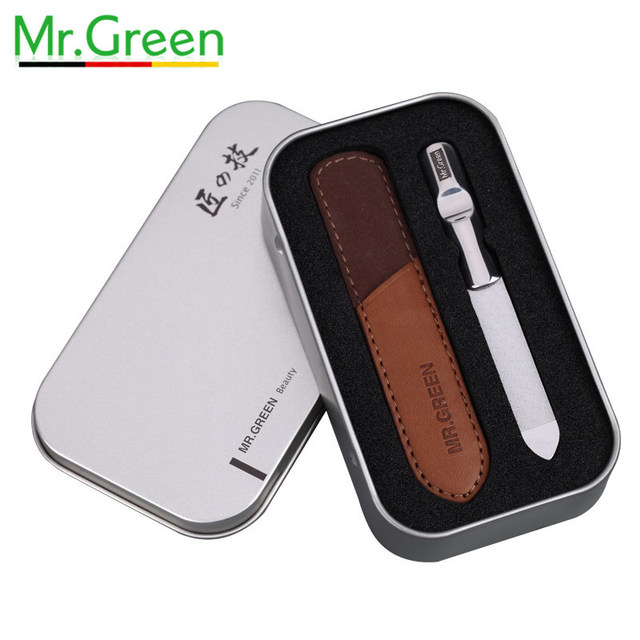MR.GREEN stainless steel nail file professional nail tool non slip ...