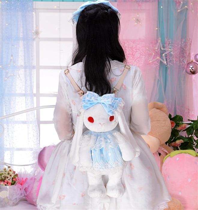 Sweet Princess Alice Lolita Rabbit Mascot Toy Anime Cosplay Bag Stuffed & Plush Doll 2016 ouran high school host club mitsukuni haninoduka s rabbit anime cosplay plush toy 38cm