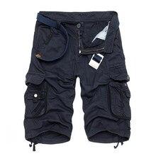 385dcc990d CAMO Militar Pantalones cortos Bermudas 2017 verano camuflaje cargo  Pantalones cortos hombres algodón suelta Tactical corto